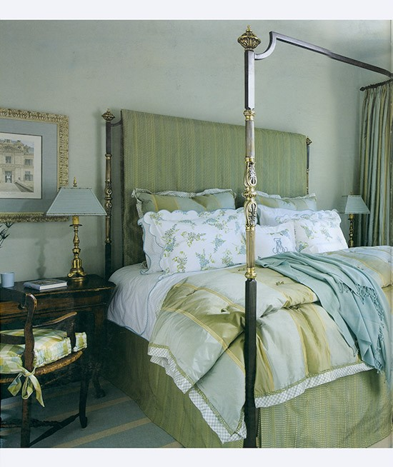 Custom Bronze & Iron Bed designed by Betty Lou Phillips