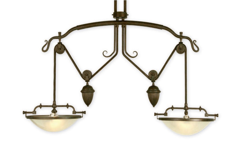 Ira Light Fixture – Two Light Version With Glass Bowls