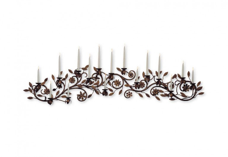 Leaves And Flowers Wall Mounted Candelabra
