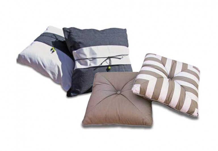 Belly-Band Toss Pillows And Mitred Corner Pillows