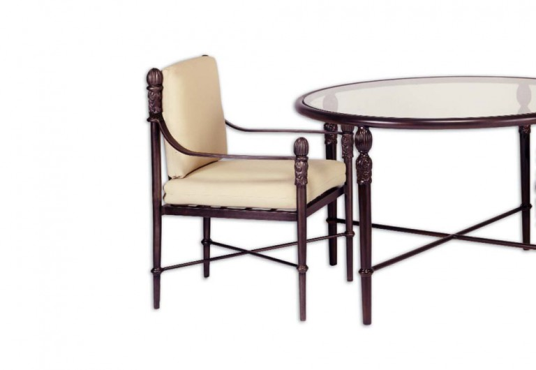 Concord Curved Tapered Seat Dining Armchair