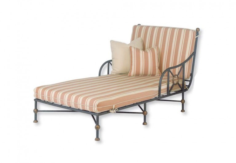 Etruscan Double Wide Chaise-Fixed Back