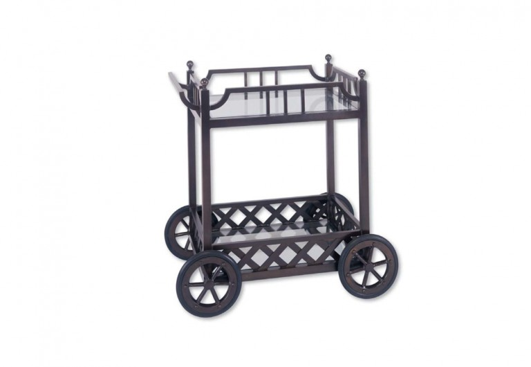 Legacy Serving Cart With Bronze Wheels (finish To Match)