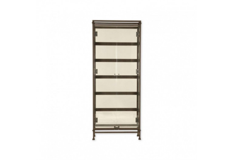 Frameless Door Display Cabinet With Two Doors