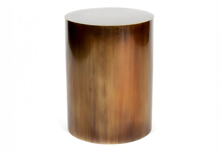 Round Smooth Drum End Table