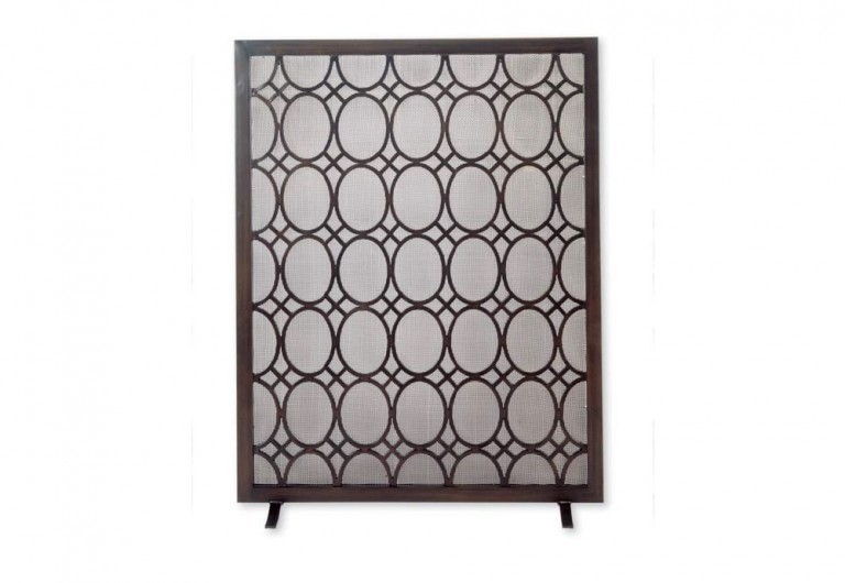 Oval Ring Fireplace Screen