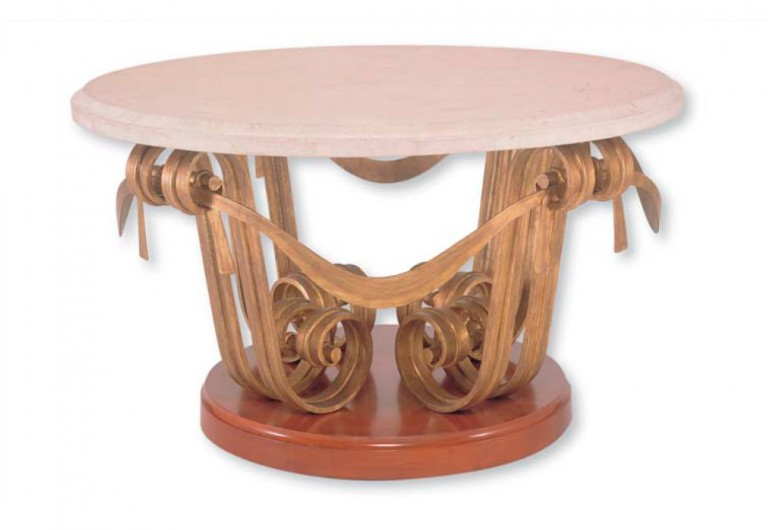 Haleakala Focal Table With Wood Base