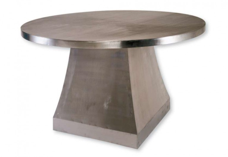 Pei Focal Table With Stainless Steel Top