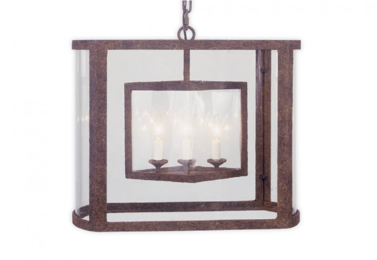 Diamond Inside Race Track Oval Lantern
