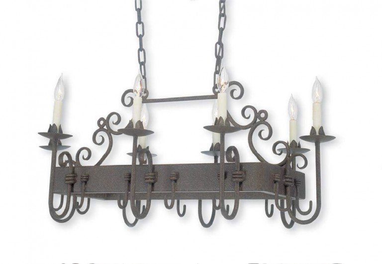 Clamped Arm Pot Rack