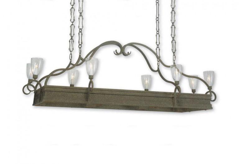 Layered Iron Frame Pot Rack