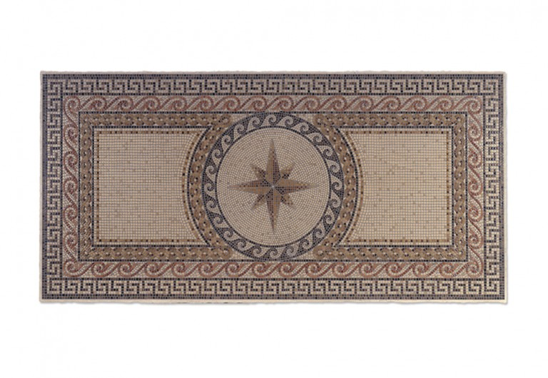 Theseus Greek Key Border With Elios Inset