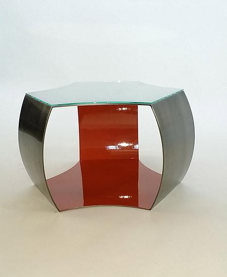 Bronze Plated Coffee Table with High Gloss Interior Finish and Glass Overlay - Murray's Iron Works new products