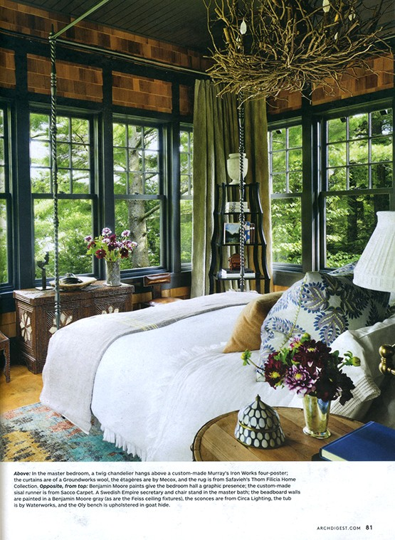 Custom Canopy Bed (not four poster) by Murray's- Designed by Thom Filicia.