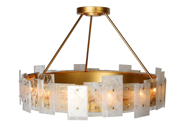 Quartz Crystal Tile Light Fixture