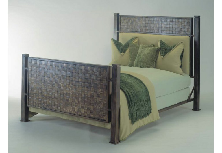 Woven Iron Four Poster Bed