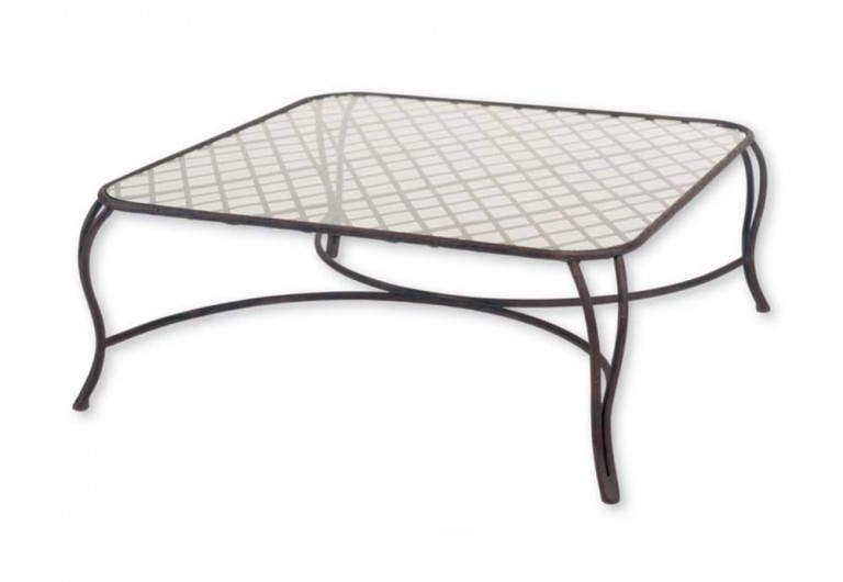 Twig Coffee Table With Lattice At Top