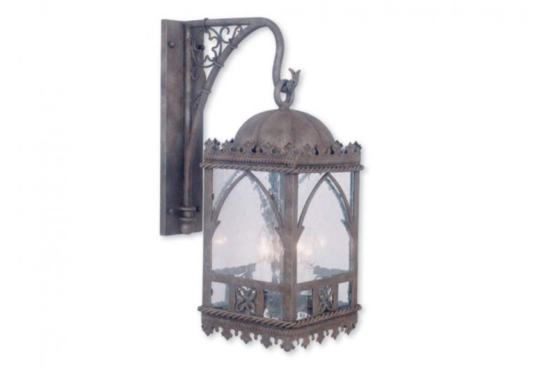 Aspen Exterior Wall Mounted Lantern With Bracket