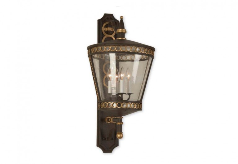 Gondolier Exterior Wall Mounted Lantern With Bracket