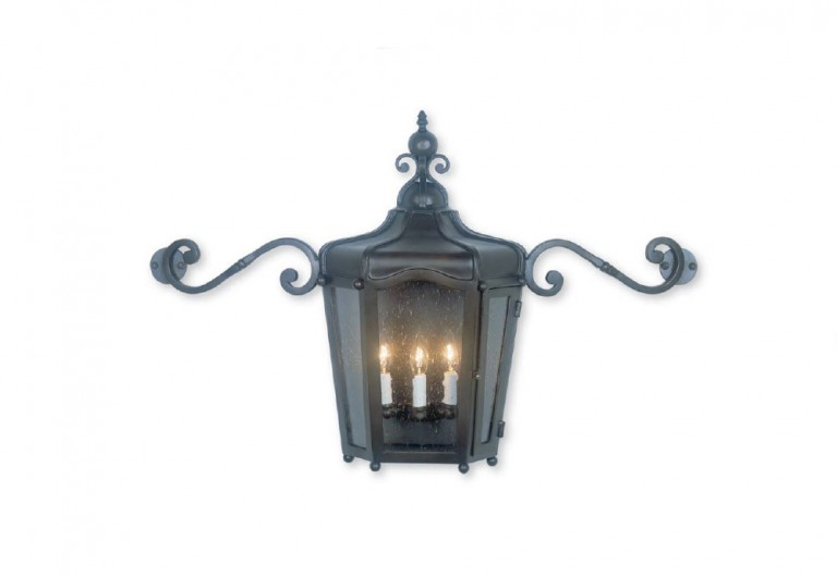 Sonia Exterior Wall Sconce With Scrolled Arms