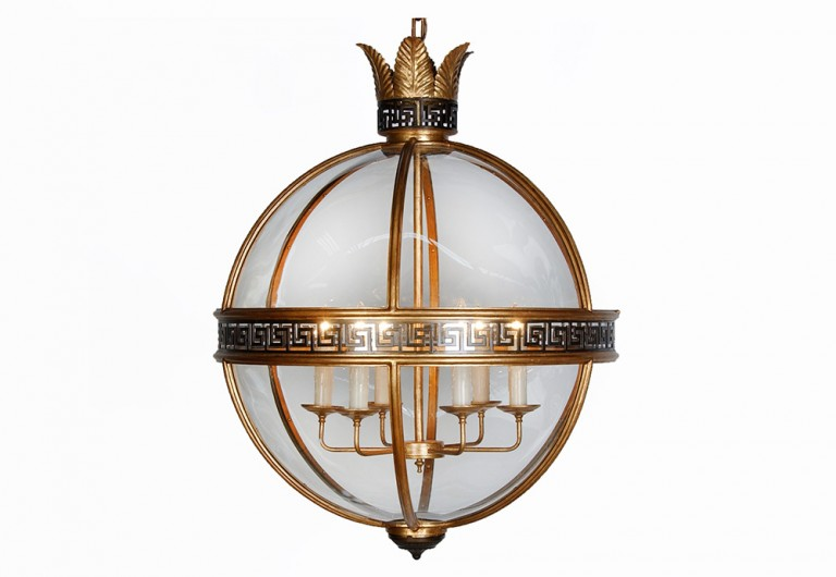 Greek Key Lantern