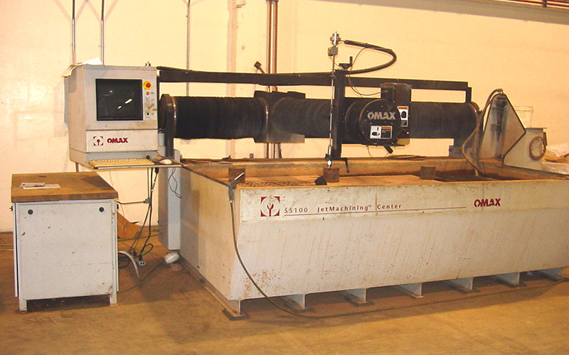 Murray's Workshop Capabilities Waterjet cutter