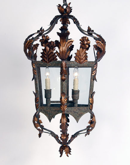 Italian Style Lantern with Restoration Glass Panels - Murray's Iron Works new products