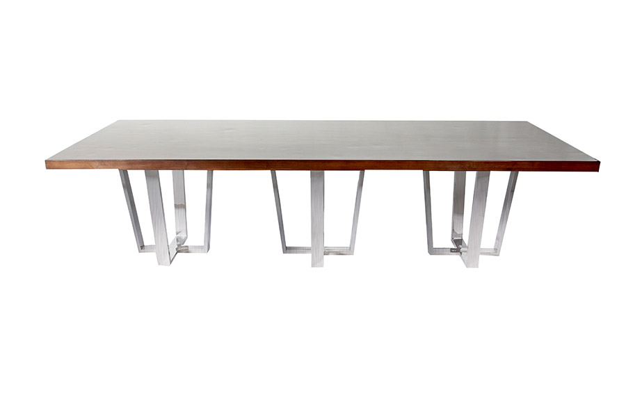Polished Stainless Steel Conference Table - Murray's Iron Works new products