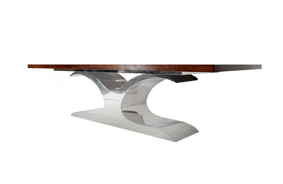 Polished Stainless Steel Dining Table - Murray's Iron Works new products